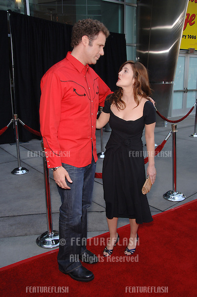 Actress DREW BARRYMORE & actor WILL FERRELL at the world premiere, in Hollywood, of their new animated movie Curious George..January 28, 2006  Los Angeles, CA.© 2006 Paul Smith / Featureflash