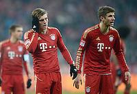FUSSBALL   1. BUNDESLIGA  SAISON 2012/2013   17. Spieltag FC Bayern Muenchen - Borussia Moenchengladbach    14.12.2012 Toni Kroos und Thomas Mueller (v. li., FC Bayern Muenchen)