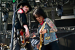 Jimmy 'Two Fingers' Ashhurst and Stevie D. of Buckcherry perform during the 2013 Rock On The Range festival at Columbus Crew Stadium in Columbus, Ohio.