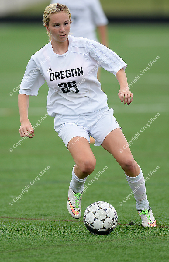 Oregon's Jen Brien scores two of the day's three goals, as Oregon tops Green Bay Southwest 3-0 to win the WIAA Division 2 girls soccer state championship, on Saturday, June 20, 2015 at Uihlein Soccer Park in Milwaukee, Wisconsin