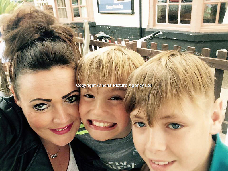 """Pictured: James O'Mara (R) with his mum Becci (L) and brother Charlie (C), image taken from relative's open social media account<br /> Re: A young rugby player died just a week after being diagnosed with leukaemia. <br /> James O'Mara, 13, was a happy and healthy schoolboy but suddenly complained of feeling unwell.<br /> His family thought he had a sickness bug but tests showed James had acute myloid leukaemia.<br /> He battled the illness for just a week before dying at Birmingham Children's Hospital surrounded by his heartbroken family.<br /> His aunt Amanda Tanner, 41, said: """"He was always laughing, joking and smiling - he didn't see the point in homework.<br /> """"He loved being outside doing anything that could be adventurous."""