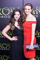 VANCOUVER, BC - OCTOBER 22: Madison McLaughlin and Danielle Panabaker at the 100th episode celebration for tv's Arrow at the Fairmont Pacific Rim Hotel in Vancouver, British Columbia on October 22, 2016. Credit: Michael Sean Lee/MediaPunch