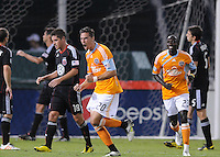 Houston Dynamo midfielder Geoff Cameron (20) celebrates his score in the 70th minute of the game.  The Houston Dynamo defeated DC United 3-1, at RFK Stadium, Saturday September 25, 2010.
