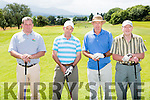 Mike Sugrue, Andrew Fealy, Frank Egan and James O'Connor Abbeydourney playing in the Kerry Captains classic in Killarney Golf and Fishing club on Saturday