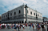 Venice:  Doge's Palace (Palazzo Ducale) --3/4 view.  Photo '83.