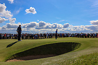 Sandy Scott (GB&I) and Euan Walker (GB&I) on the 17th during Day 2 Foursomes of the Walker Cup, Royal Liverpool Golf CLub, Hoylake, Cheshire, England. 08/09/2019.<br /> Picture Thos Caffrey / Golffile.ie<br /> <br /> All photo usage must carry mandatory copyright credit (© Golffile | Thos Caffrey)