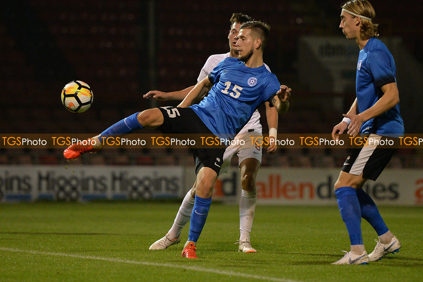 Alfie Pavey Of England C and Havant & Waterlooville FC goes close during England C vs Estonia Under-23, International Friendly Match Football at The Breyer Group Stadium on 10th October 2018