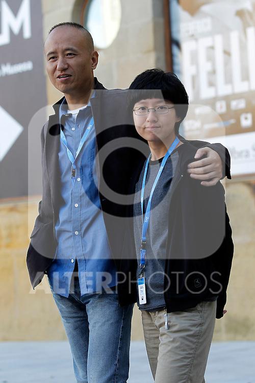 Chinese directors Zhu Wen (L) and Liu Jiayin (R) during the 59th San Sebastian Donostia International Film Festival - Zinemaldia.September 19,2011.(ALTERPHOTOS/ALFAQUI/Acero)