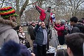 A Muslim heckles a Christian preacherr  at Speakers' Corner, Hyde Park, London; 2017.