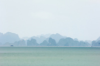 A misty day in Halong Bay.