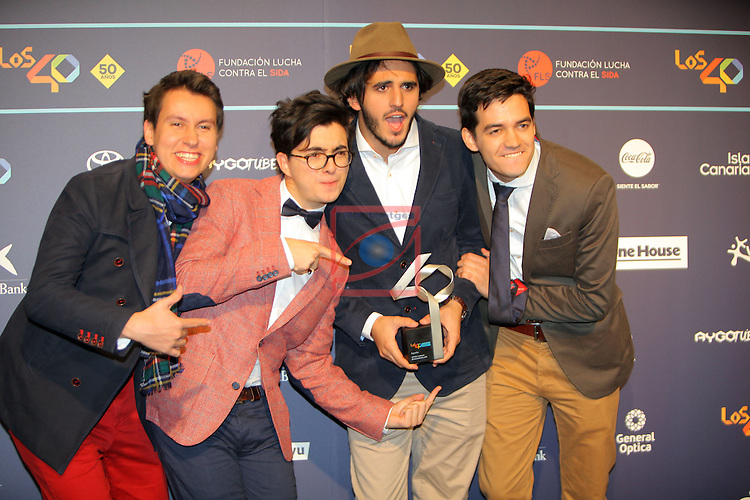 Los 40 MUSIC Awards 2016 - Photocall.<br /> Morat.