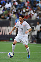 Jay Heaps (16) of the United States (USA). The United States and Haiti played to a 2-2 tie during a CONCACAF Gold Cup Group B group stage match at Gillette Stadium in Foxborough, MA, on July 11, 2009. .