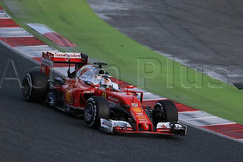 02.03.2016. Barcelona, Spain. Formula 1 winter car testing at Circuit de Barcelona Catalunya Test 2 Day 2.  Scuderia Ferrari SF16-H – Sebastian Vettel
