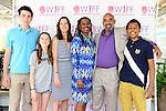 "COCONUT GROVE, FL - MARCH 30: Harper Peck, Ondine Peck-Voll, Cecilia Peck, Yvonne Mccormack Lyons, BaBa Adekemi Lyons and son attend the Women's International Film Festival 2014 - Brunch and the screening of ""Brave Miss World"" also received the awards for the best films of the festival on March 30, 2014 in Coconut Grove, Florida. (Photo by Johnny Louis/jlnphotography.com)"