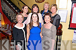 Louise Bourke from Adare (centre) celebrated her Hen Party with Bottom L-R Breda Bourke from Adare, Mary Browne from Millstreet, Top L-R Kathleen Mc Hugh from Raheen, Eileen O'Callaghan from Mallowand Eilin Kiely from Millstreet in the Lord of Kenmare restaurant Killarney last Sunday night.