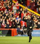 08.05.2018 Aberdeen v Rangers: Derek McInness salutes the home fans after the game