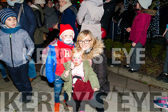 Pictured at the Abbeyfeale Switch On The Christmas Lights on Friday December 1st were Jackie O' Rourke  Abbeyfeale with her nephew & niece Seanie & Hazel O' Rourke.