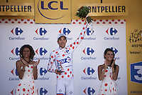 polka dots for Thibaut Pinot (FRA/FDJ)<br /> <br /> stage 11: Carcassonne - Montpellier (162km)<br /> 103rd Tour de France 2016