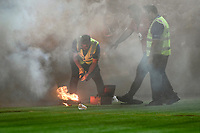 28th February 2020; Netstrata Jubilee Stadium, Sydney, New South Wales, Australia; A League Football, Sydney FC versus Western Sydney Wanderers; flares are lit by the RBB supporters