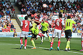 08/08/2015 Sky Bet League 1 Fleetwood Town v Southend United<br /> Danny Andrew clears