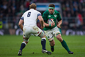 17th March 2018, Twickenham, London, England; NatWest Six Nations rugby, England versus Ireland; Peter O'Mahony of Ireland runds towards Chris Robshaw of England