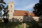 Village parish church and graveyard of Saint Peter, Sibton, Suffolk, England, UK