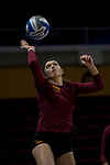 GRAND RAPIDS, MI - NOVEMBER 18: Members of the Claremont-Mudd-Scripps volleyball team warm-up the Division III Women's Volleyball Championship held at Van Noord Arena on November 18, 2017 in Grand Rapids, Michigan. Claremont-M-S defeated Wittenberg 3-0 to win the National Championship. (Photo by Doug Stroud/NCAA Photos via Getty Images)