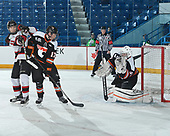 Sudbury, ON - April 23 2018 - Game 1 - Moncton Flyers vs Cantonniers de Magog during the 2018 TELUS Cup at the Sudbury Community Arena in Sudbury, Ontario, Canada (Photo: Matthew Murnaghan/Hockey Canada)