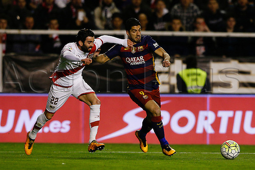 03.03.2016. Madrid, Spain.  Luis Alberto Su‡rez Diaz (9) FC Barcelona. La Liga match between Rayo Vallecano and FC Barcelona at the Vallecas stadium in Madrid, Spain