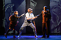 """London, UK. 04.05.2016. ZooNation Dance Company  present """"Into the Hoods: Remixed"""" at the Peacock Theatre. Picture shows:  Jenai Mason-Smith (Lost Kid), Andry Oporia (Landlord), Tyreese Remy-Henderson (Lost Kid). Photograph © Jane Hobson."""