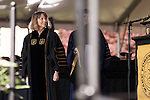 May 19, 2014. Winston Salem, North Carolina.<br />  Abramson was awarded an honorary Doctorate in Humane Letters.<br />  Former New York Times Executive Editor Jill Abramson gave the commencement address and handed diplomas to graduating students at Wake Forest University.