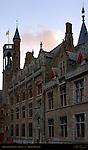 Gruuthuse Palace at Dawn, Bruges, Brugge, Belgium