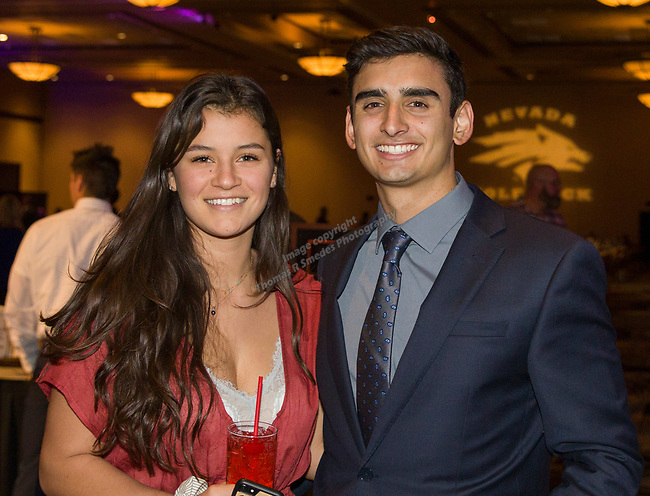 Fayth Ryn and Marco Valenzuela during the 35th Annual Bobby Dolan Baseball Dinner in the Reno Ballroom on Thursday, January 17, 2019.