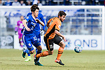 Brisbane Roar Forward Thomas Oar (R) fights for the ball with Ulsan Hyundai Midfielder Lee Yeongjae (L) during the AFC Champions League 2017 Group E match between Ulsan Hyundai FC (KOR) vs Brisbane Roar (AUS) at the Ulsan Munsu Football Stadium on 28 February 2017 in Ulsan, South Korea. Photo by Victor Fraile / Power Sport Images