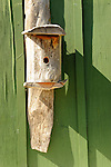 Brennan Harbor Resort Camps. Homemade birdhouse...