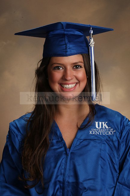 Plymale, Meredith graduation portrait taken at the fall Grad Salute at the University of Kentucky in Lexington, Ky., on 10/2/13.