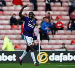 Clayton Donaldson of Sheffield Utd  celebrates scoring the second goal during the Championship match at the Stadium of Light, Sunderland. Picture date 9th September 2017. Picture credit should read: Simon Bellis/Sportimage