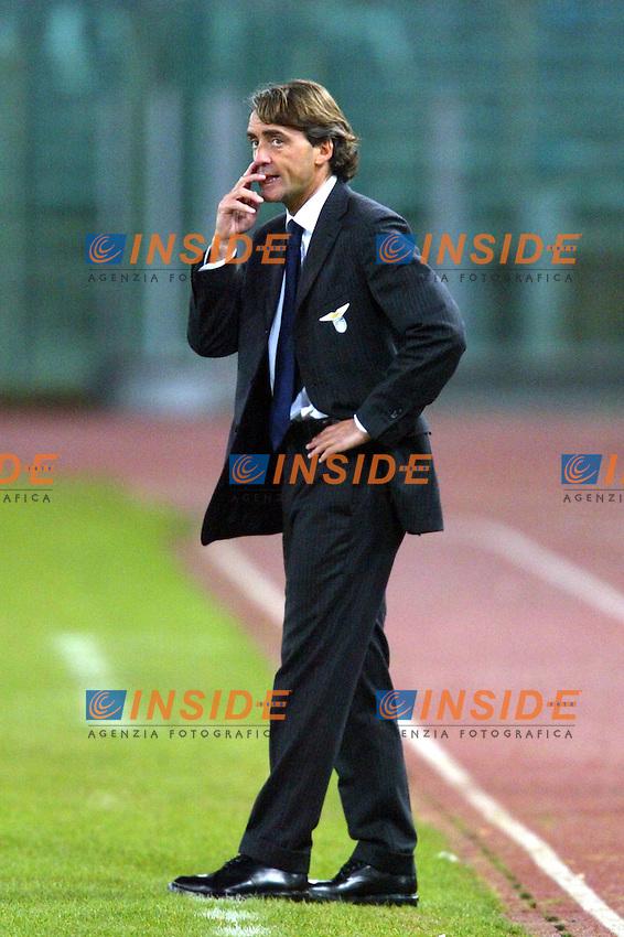 Roma 14/1/2004 - Coppa Italia<br /> Lazio Parma 2-0<br /> Roberto Mancini Lazio Trainer (Lazio)<br /> Foto Andrea Staccioli Insidefoto