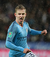 Manchester City's Oleksandr Zinchenko <br /> <br /> Photographer Andrew Kearns/CameraSport<br /> <br /> English League Cup - Carabao Cup Quarter Final - Leicester City v Manchester City - Tuesday 18th December 2018 - King Power Stadium - Leicester<br />  <br /> World Copyright © 2018 CameraSport. All rights reserved. 43 Linden Ave. Countesthorpe. Leicester. England. LE8 5PG - Tel: +44 (0) 116 277 4147 - admin@camerasport.com - www.camerasport.com