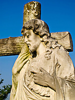 Statue in City Cemetery in Vicksburg Mississippi.