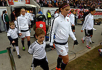 Offenbach, Germany, Friday, April 05 2013: Womans, Germany vs. USA, in the Stadium in Offenbach,  Alex Morgan (USA)...
