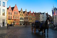 Carriage Ride In Market Square In Brugge, Belgium