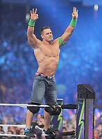 NEW ORLEANS, LA - APRIL 8: John Cena at WWE Wrestlemania 34 at the Mercedes-Benz Superdome in New Orleans, Louisiana on April 8, 2018. <br /> CAP/MPI/GN<br /> &copy;GN/MPI/Capital Pictures