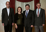 Mark Weinberg, founding dean of Voinovich School of Leadership and Public Affairs, Carin Painter, spouse of Konneker Medal recipient Rob Painter, Rob Painter and Michael Finney, chief financial and administrative officer, Voinovich School of Leadership and Public Affairs