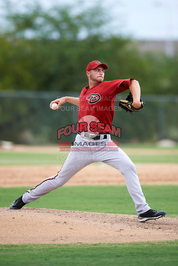 Arizona Diamondbacks minor league pitcher Austin Platt #35 during an instructional league game against the Oakland Athletics at the Papago Park Baseball Complex on October 11, 2012 in Phoenix, Arizona.  (Mike Janes/Four Seam Images)