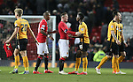 Wayne Rooney of Manchester United consoles Sullay Kaikai of Cambridge Utd - FA Cup Fourth Round replay - Manchester Utd  vs Cambridge Utd - Old Trafford Stadium  - Manchester - England - 03rd February 2015 - Picture Simon Bellis/Sportimage