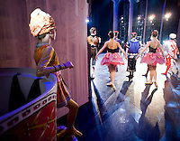 Dancers prepare to go on stage at The Carolina Ballet's Nutcracker in Raleigh, NC.