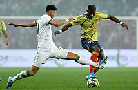 LILLIE -FRANCIA, 15-10-2019:Acción de juego entre Colombia y Argelia durante partido por el segundo amistoso de la fecha FIFA /<br /> Play action between Colombia and Argelia during the second friendly match of the FIFA date. Photo: VizzorImage / Cristián Álvarez / Contribuidor