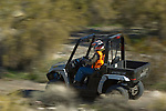 Pan shot of Prowler ATV in Arizona desert