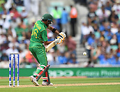 June 18th 2017, The Kia Oval, London, England;  ICC Champions Trophy Cricket Final; India versus Pakistan; Babar Azam of Pakistan lines up to play his shot
